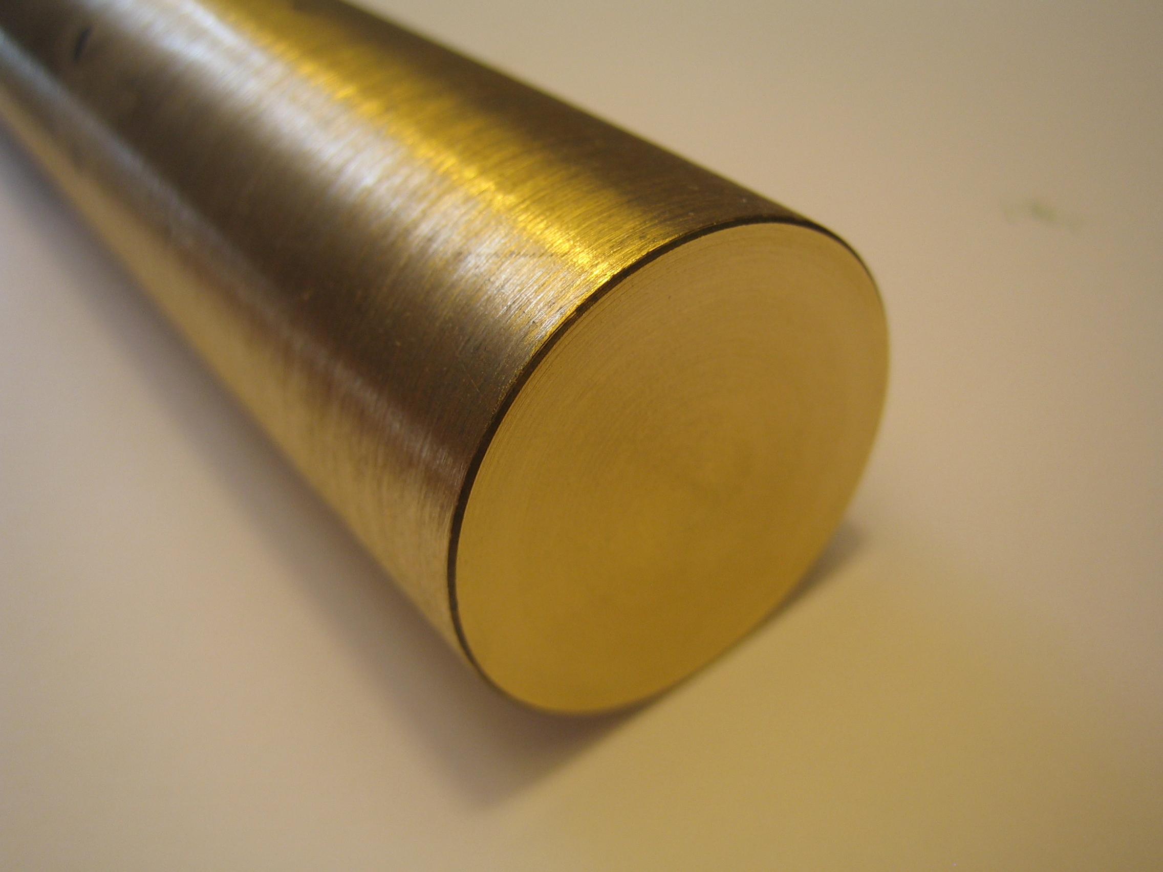 Zuschnitt 250mm lang Messing Rund D = 35mm CUZn 39Pb 3